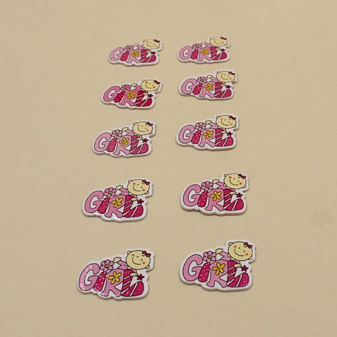 Non-Sticky Sticker Badge Baby Girl Face Pink - Basics.Pk