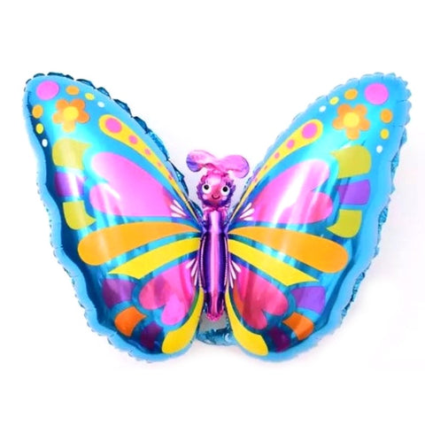 Balloon Foil Multi-Color Butterfly 28 inches Large