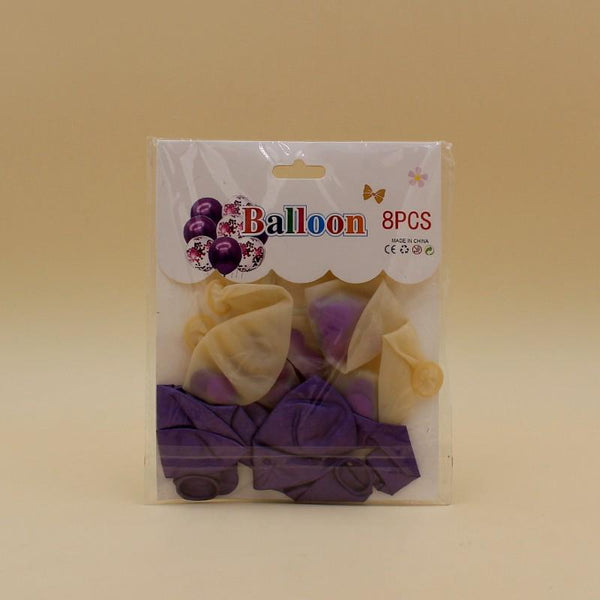 Balloons Confetti + Metallic Purple Pack of 8 - Basics.Pk