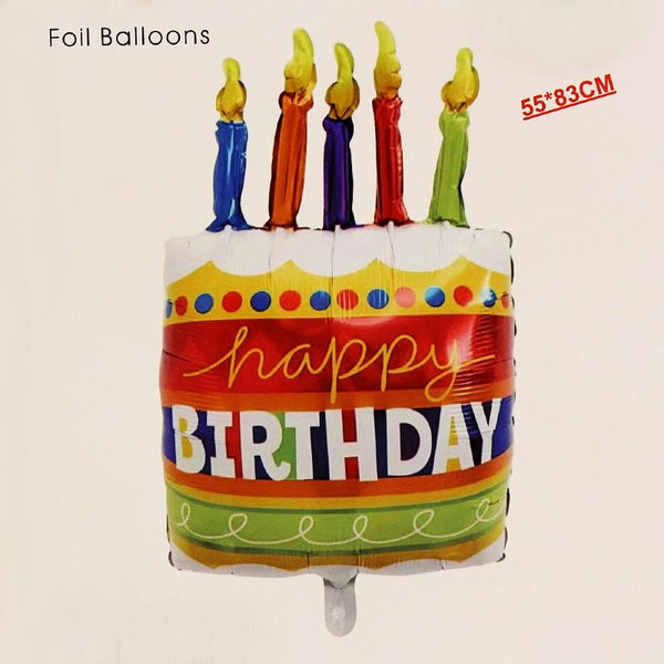 Balloons Foil LARGE Birthday Cake 33 inches - Basics.Pk