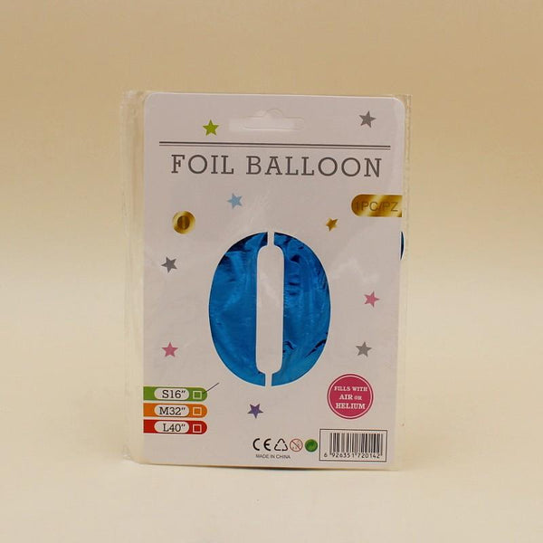 Balloons Foil Blue 16 inches Single Number - Basics.Pk