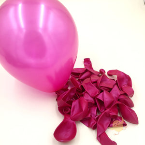 Plain Party Balloons Maroon Shiny (Single) - Basics.Pk