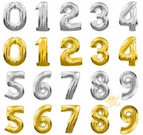Balloons Foil 16 inches Single Number - Basics.Pk