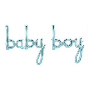 "Balloons Foil small letters ""baby boy"" Blue"