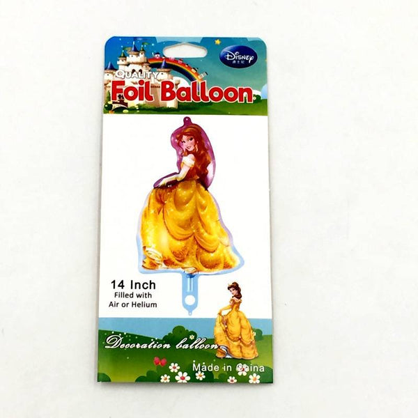 "Balloons Foil 14"" Princess Yellow - Basics.Pk"