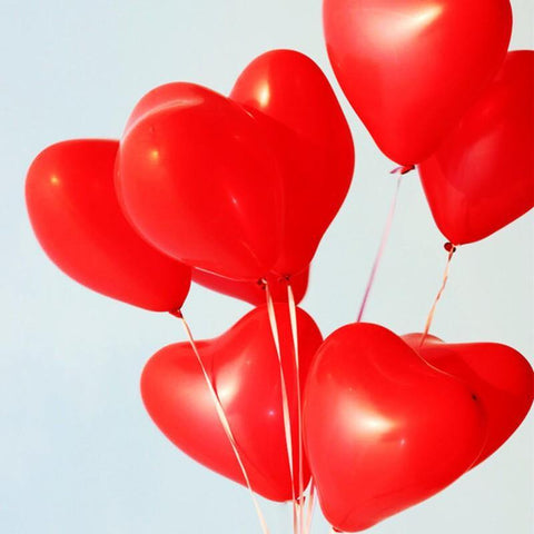 Balloons Plain Large Party Red-Heart (Single) - Basics.Pk