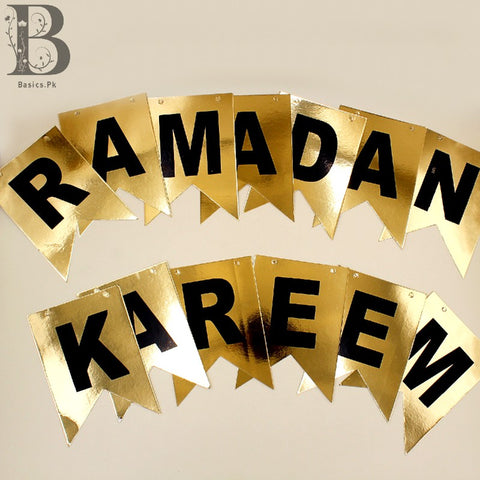 Banner Ramzan Kareem Black / golden