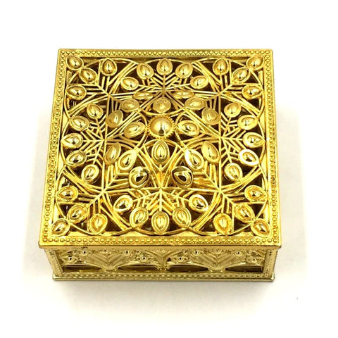 Bidh Box in square golden - Basics.Pk