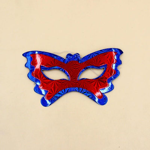 Mask Red & Blue Butterfly Shining Pack of 10 - Basics.Pk