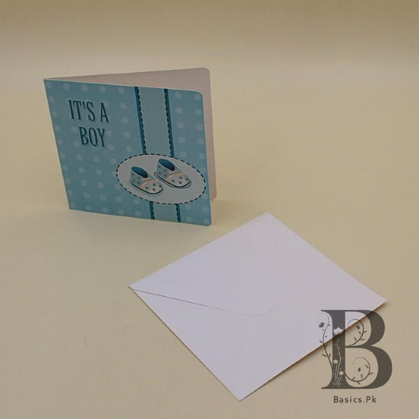 Greeting Card Its a Boy with Shoes