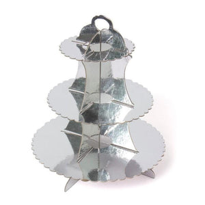 Cupcake Stand 3 Tier Silver Stand - Basics.Pk