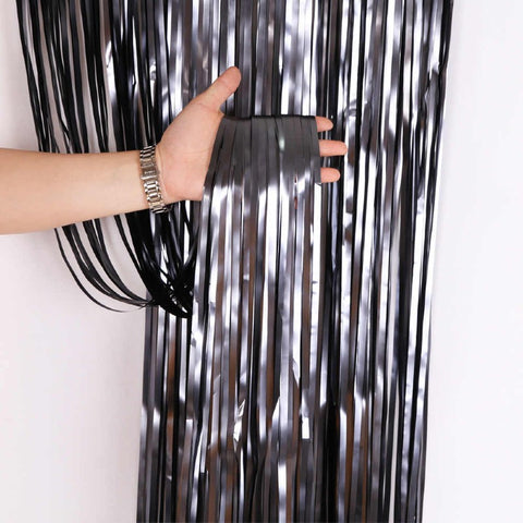Curtain Foil Strips Black Matt
