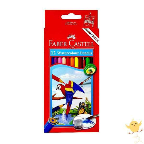 FABER CASTELL 12 WATER Color Pencils - Basics.Pk