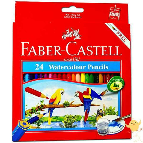 FABER CASTELL 24 WATER Color Pencils - Basics.Pk
