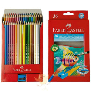 FABER CASTELL 36 WATER Color Pencils - Basics.Pk