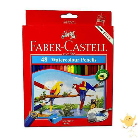 FABER CASTELL 48 WATER Color Pencils - Basics.Pk