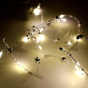 Fairy Lights - warm Star Lights (7 feet) - Basics.Pk