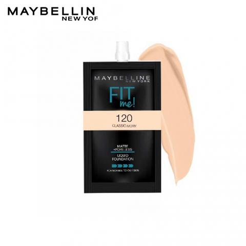 Maybelline Fit Me Foundation Sachet 5 ml - Basics.Pk