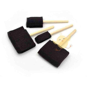 BRUSH Foam Wooden 4Pcs - Basics.Pk