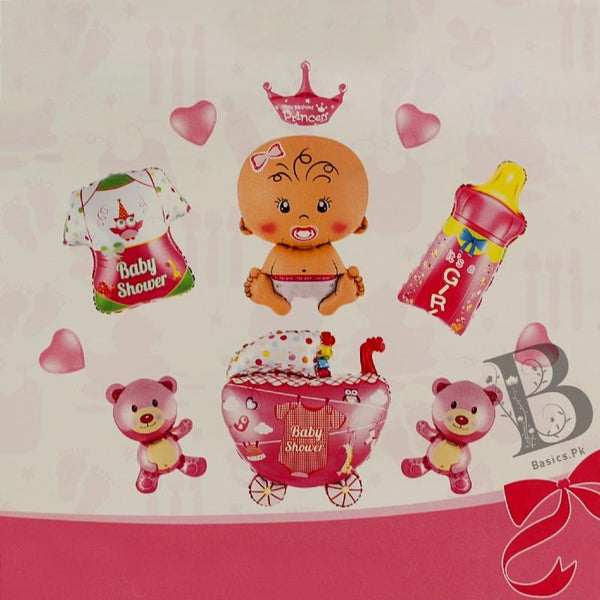 Balloons Foil A New Girl Pack Of 11 - Basics.Pk