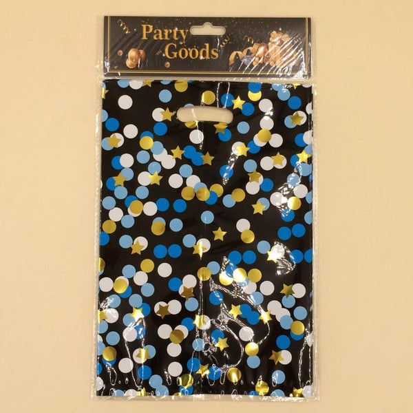 Goody Bag Foil Mix Dots And Stars  (Golden-Blue-Black) - Basics.Pk