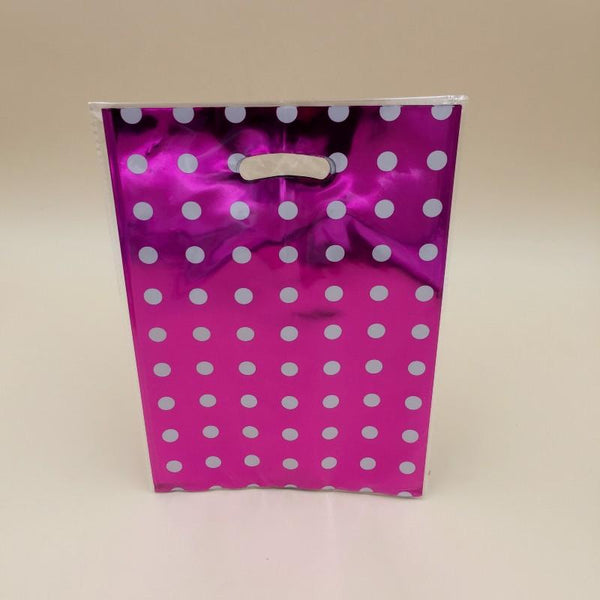 Goody Bag Foil Dots (Pink-White) - Basics.Pk