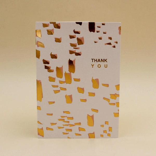 Greeting Cards Thank You Golden bricks - Basics.Pk