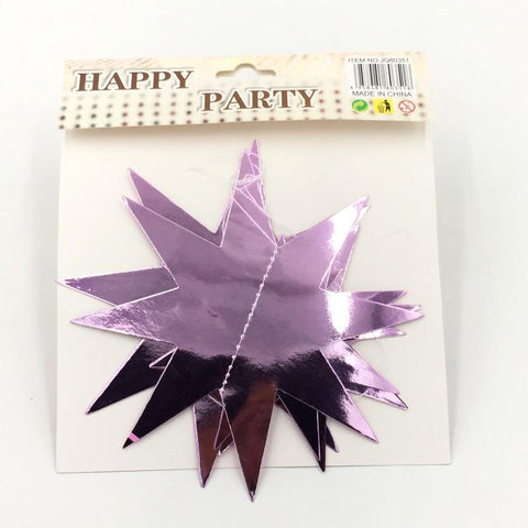 3D Star Purple Hanging - Basics.Pk