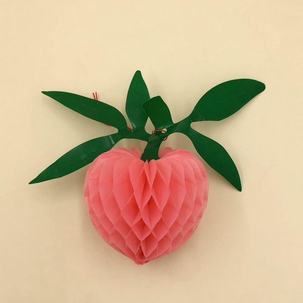 3D Hanging Paper Strawberry Pink Color - Basics.Pk