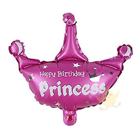 "Balloons Foil Princess Crown Foil 15"" - Basics.Pk"