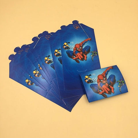 Invitation Card Foldable 10 Spiderman Theme - Basics.Pk
