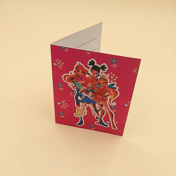 Invitation Card Foldable 10 Winx Theme - Basics.Pk