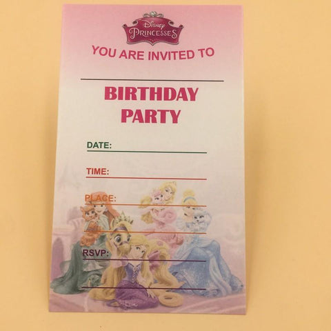 Invitation Card 10 Princess Theme - Basics.Pk
