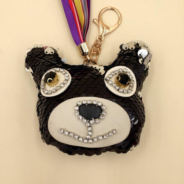 Key Chain Teddy Bear Black - Basics.Pk