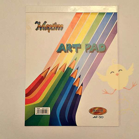 Art Pad Maxim A4 Plain Imported Paper ( 50 pages )