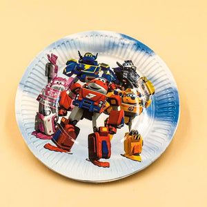 Plates (10 Small) Robot theme - Basics.Pk