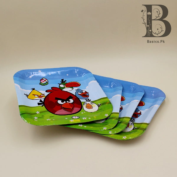 Plates (10 Large) Angry Bird theme Square