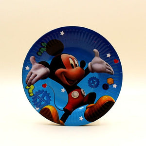 Plates (10 Small) Mickey Mouse theme - Basics.Pk