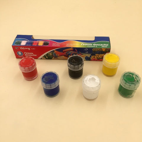 Yalong 6 WASHABLE Poster  Paints 15ml (YL83003-6)