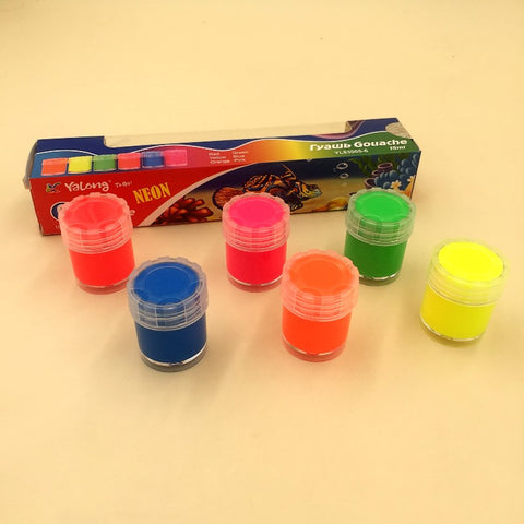 Yalong 6 Fluorescent Neon Poster Paints 15ml (YL83005-6)