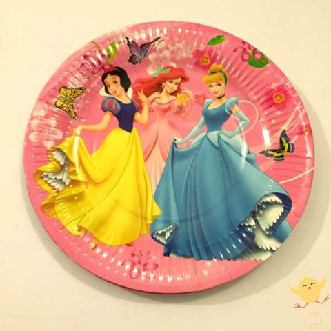 Plates Princess theme (10 Large) - Basics.Pk