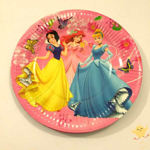 Plates Princess theme (10 Large)