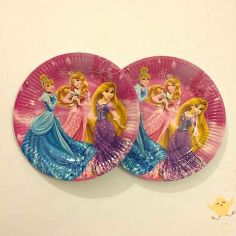 Plates (10 Small) Princess theme - Basics.Pk