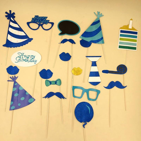 PROPS Happy Birthday Glitter Blue - Basics.Pk
