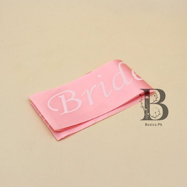 Sash Bride To Be White on Peach - Basics.Pk