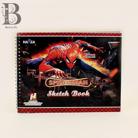 Sketch Book A4 20 Plain Pages Spiderman