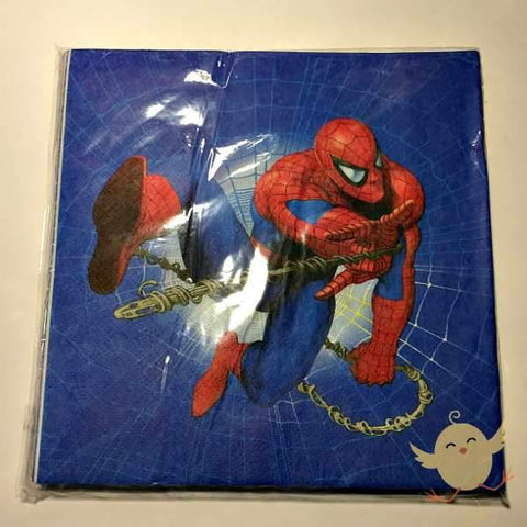 NAPKINS 20 Spiderman Blue Theme pk 20 - Basics.Pk