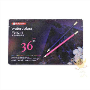 SUPERIOR 36 Water colors Pencils [MS302-36T] - Basics.Pk
