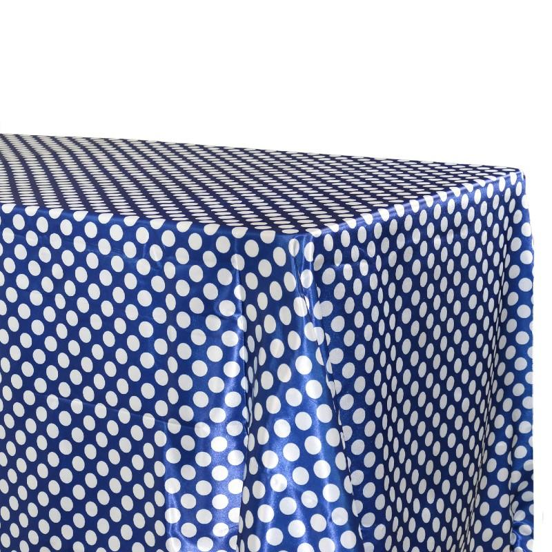 Table Sheet Royal Blue With White Dots theme - Basics.Pk
