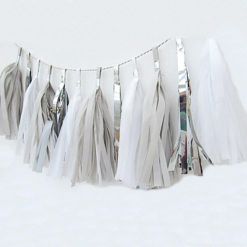 Tassels 20 pack Set (Silver, Grey and white) - Basics.Pk